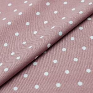 Ткань на отрез супер софт горох цвет розовый