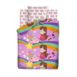 Детское постельное белье из хлопка 1.5 сп Гравити Фолз (70*70) рис. 8902+8903 вид 1 Мэйбл и Пухля