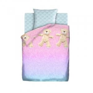 Детское постельное белье из хлопка 1.5 сп 4YOU (70х70) рис. 16065-1/16066-1 Меховой