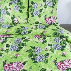 Постельное белье бязь эконом 4321 зеленый 2-х сп