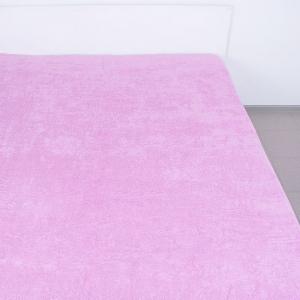 Простынь махровая цвет Розовый 190/200