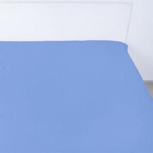 Простынь на резинке сатин цвет синий 160/200/20 см