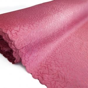 Портьерная ткань 150 см Мрамор цвет малиновый