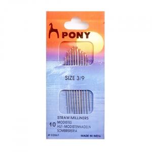 Иглы для наметки PONY 02861 размер 3-9 уп 10 шт