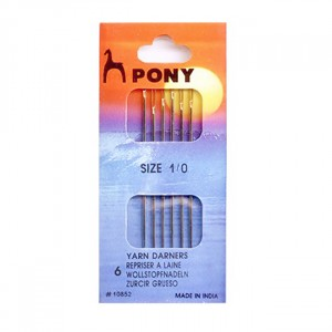 Иглы ремонтные PONY 10852 № 1/0 уп 6 шт