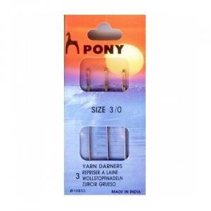 Иглы ремонтные универсальные PONY 10853 № 3/0 уп 3 шт