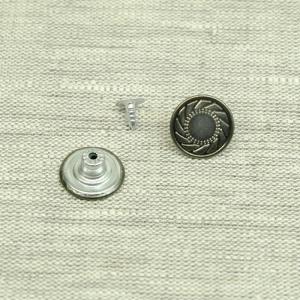 Пуговица джинс ПД092 темное серебро 17мм уп 50 шт