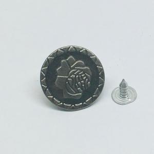 Пуговица джинс ПД085 темное серебро 20мм уп 50 шт