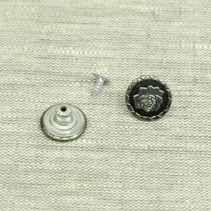 Пуговица джинс ПД085 темное серебро 17мм уп 50 шт
