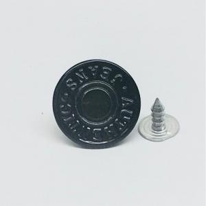 Пуговица джинс ПД 105 черный 17мм уп 50 шт