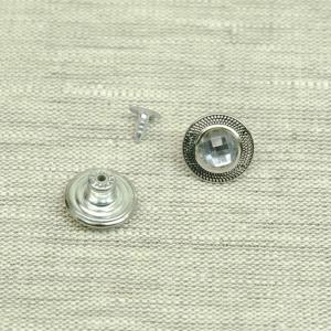 Пуговица джинс ПД 103 никель с камнем 17мм уп 50 шт
