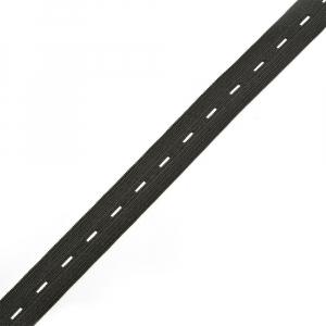 Резинка 20 мм 40 м TBY перфорированная цвет черный