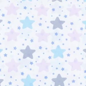 Ткань на отрез бязь плательная 150 см 1959/1 Звезды б/з