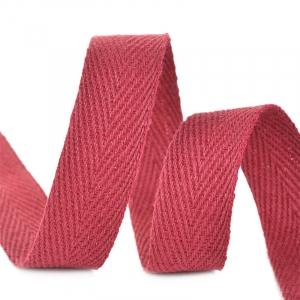 Лента киперная 10 мм хлопок 2.5 гр/см цвет F178 бордовый