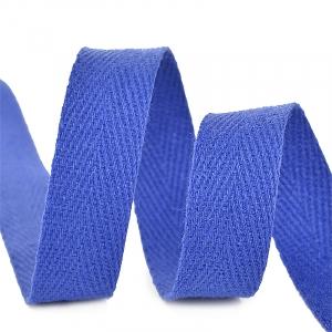 Лента киперная 10 мм хлопок 2.5 гр/см цвет F223 синий василек