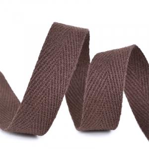 Лента киперная 10 мм хлопок 2.5 гр/см цвет F302 коричневый