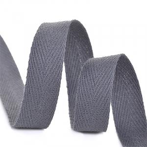 Лента киперная 10 мм хлопок 2.5 гр/см цвет F311 темно-серый
