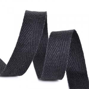 Лента киперная 10 мм хлопок 2.5 гр/см цвет F322 черный