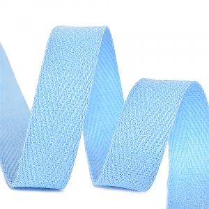 Лента киперная 10 мм хлопок 2.5 гр/см цвет S351 голубой
