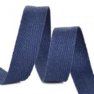 Лента киперная 15 мм хлопок 2.5 гр/см цвет S058 темно-синий