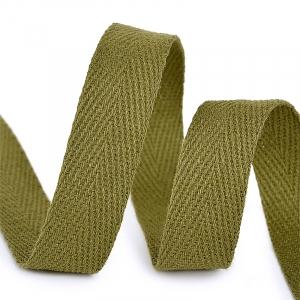 Лента киперная 15 мм хлопок 2.5 гр/см цвет F264 зеленый