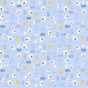 Фланель 90 см набивная арт 514 гр Тейково рис 21186 вид 2 Мишки