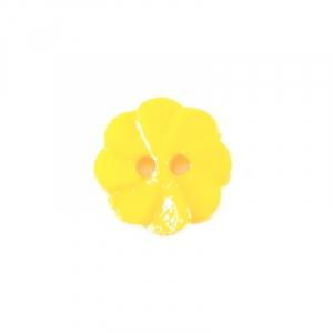 Пуговица детская на два прокола Розочка 13 мм цвет св-желтый упаковка 24 шт