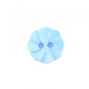 Пуговица детская на два прокола Розочка 13 мм цвет св-голубой упаковка 24 шт