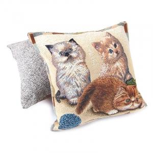 Наволочка гобелен декоративная 45/45 см Персидские котята
