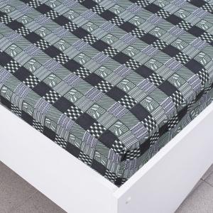 Простыня трикотажная на резинке цвет абстракция1 120/200/20 см