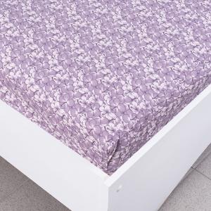 Простыня трикотажная на резинке цвет цветы52 120/200/20 см
