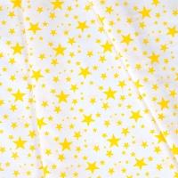 Ткань на отрез бязь плательная 150 см 1556/9А цвет желтый