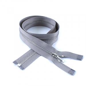 Молния металл №1 никель разъем 160см D225 серый