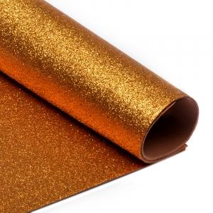 Фоамиран глиттерный 2 мм 20/30 см уп 10 шт MG.GLIT.H035 цвет медный
