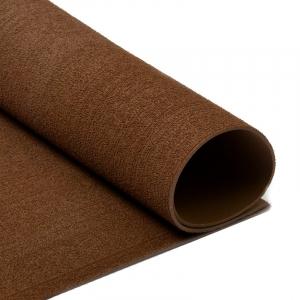 Фоамиран махровый 2 мм 20/30 см уп 10 шт MG.TOW.N019 цвет коричневый