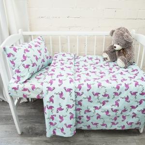 Постельное белье в детскую кроватку из поплина 434/2