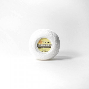 Канариес-20 0000-White 100% хлопок 20гр 230м (Турция) цвет белый