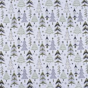 Ткань на отрез рогожка 150 см 7377/2 Елочки цвет олива