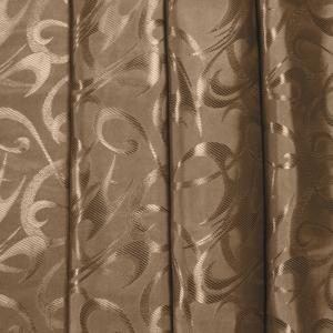 Портьерная ткань 150 см на отрез 26 цвет шоколадный