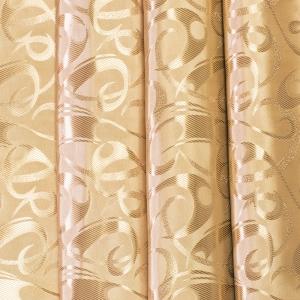 Портьерная ткань 150 см на отрез 5 цвет золотой