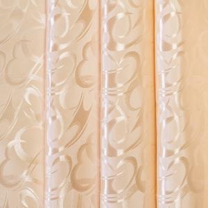 Портьерная ткань 150 см на отрез 1 цвет бежевый