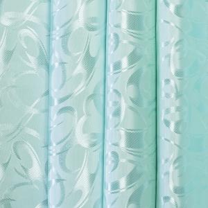 Портьерная ткань 150 см на отрез 32 цвет бирюзовый