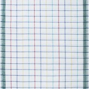 Ткань на отрез полулен полотенечный 50 см Клетка вид 3