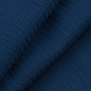 Ткань на отрез вафельное полотно гладкокрашенное 150 см 165 гр/м2 цвет индиго