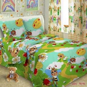 Детское постельное белье 1616 1.5 сп поплин