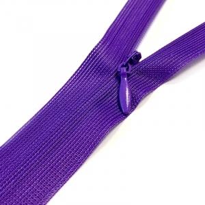 Молния потайная н/р 60см D218 нейлон фиолет