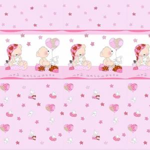 Маломеры поплин 150 см 1636 цвет розовый 11 м