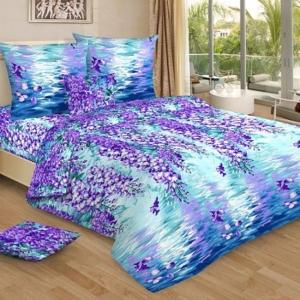 Бязь 120 гр/м2 220 см 4157/1 Капель цвет голубой