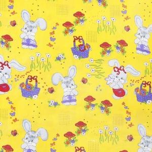 Бязь ГОСТ детская 150 см 1304/5 Лесная сказка цвет желтый