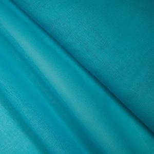 Ткань на отрез ситец гладкокрашеный 80 см 65 гр/м2 цвет бирюзовый